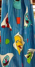 Vintage Sesame Street Drapes Curtain set 60X25 Bert Ernie Big Bird Drapery Hooks