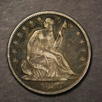 1859-O SEATED LIBERTY 50C Silver HALF DOLLAR Lot#B968