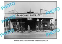 OLD 8x6 PHOTO OF SANDGATE GARAGE c1928 QLD PLUME TEXACO PETROL BOWSER