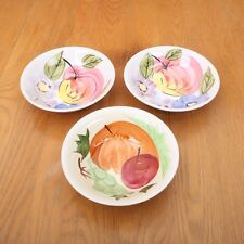 3 Hand Painted Fruit Pattern Bowls For B & E Sale Company Detroit Made In Korea