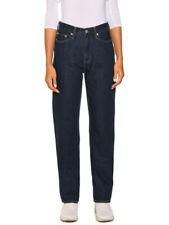 Calvin Klein CKJ030 Women's High Rise Straight Leg Jeans Dark Blue W28 L30 BNWT