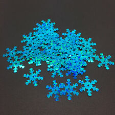 100pcs 18mm Lake blue Christmas Snowflake Loose Sequins Paillettes Sewing Craft