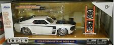 1970 Ford Mustang Boss 429 Die-cast Car 1:24 Jada Toys 8 inch White