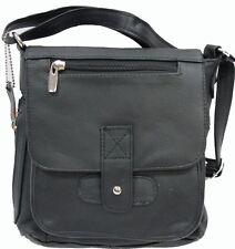 Genuine Leather Medium Multi Function Purse with Organizer Shoulder Cross Body