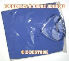 10 Pochettes Sachets plastique rabat adhesif 400 x 600 mm - polypropylène