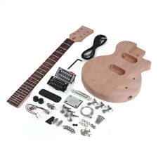 US Muslady LP Style Unfinished DIY Electric Guitar Kit Mahogany Body & Neck O3R4