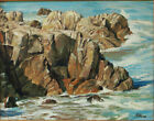 Craig Nelson Plein Air Oil Painting- Rocky Coast