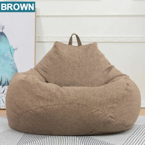 Large Bean Bag Couch Sofa Chair Cover  Lazy Lounger Cover Adult Kids More Color