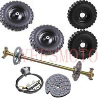 "Rear Axle Brake Sprocket Hub +4.10-6"" wheel rim tires Chain Kart Quad ATV Buggy"