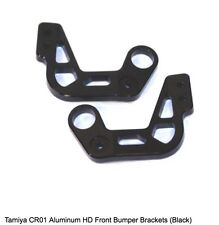 STRC Tamiya CR01 Aluminum HD Front Bumper Brackets BLACK 1/10 Scale Crawler