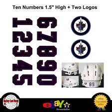 (HCW) Winnipeg Jets NHL Hockey Helmet Decals Set + Two Logos