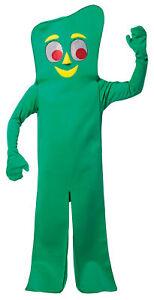 Gumby Retro Cartoon Fun Adult Unisex Costume Long Sleeves Green Jumpsuit