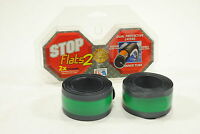 SET OF 2 STOP FLATS TIRE TUBE GREEN LINERS 20 x 2-1/4 20x2-1/4 ANTI PUNCTURE