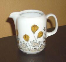 Eschenbach 1 Milchkännchen weiß, herbstliches Blumendekor