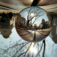 80mm Glass Clear Crystal Ball Photography Photo Prop Background Sphere For Gifts