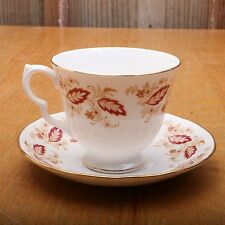 Queen Anne G176 Bone China Leaf Flower Cup and Saucer Tea Made In England