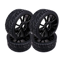 Lot 4 PCS 17mm Hub Wheel Rim & Tires HSP 1:8 Off-Road RC Car Buggy 180043 Black