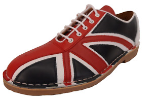 Ikon Original Union Jack Mens Red/White/Blue Mod Jam Bowling Shoes