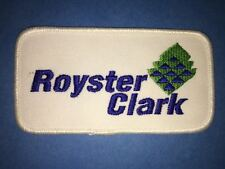 Vintage Royster Clark Farm Supply Agriculture Farmer Hat Patch Crest