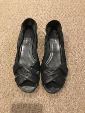 Cole Haan Black Leather Wedges- Size 7B