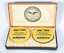 Vintage Black Champion Brand US Line Dual Wooden Line Spools in Box SJE31