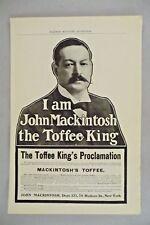 MacKintosh's Toffee PRINT AD - 1905 ~~ John Mackintosh, the Toffee King