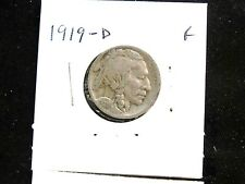 1919-D, 1919-P  5C Buffalo Nickels  2 coins circulated