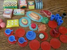 New listing Vintage 1960's Barbie Deluxe Reading Dream Kitchen Food Cartons / Boxes dishes