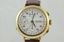 Eberhard & Co Complete Calendar Automatic Men's Watch Silver 925 Gold Plated