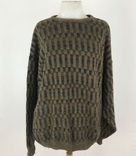 Vintage Men Sweater Large Knit Long Sleeve Coogie Styl Gianfranco Ruffini Jumper