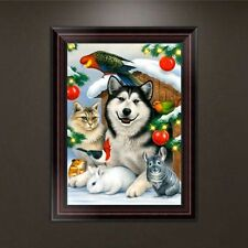 5D Diamond Embroidery Painting Dog Cat Parrot Cross Stitch DIY Craft Wall Decor