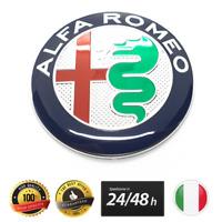 1X LOGO ALFA ROMEO STEMMA ADESIVO BADGE EMBLEMA FRONTALE POSTERIORE 74MM 147