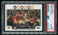 2008 Topps Kobe Bryant with LeBron James Los Angeles Lakers PSA 10