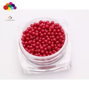New 1000 pcs Glass Dark red Micro Beads small No Hole 1.5-2mm Nail Art Caviar