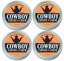 4 Pack Cowboys Chew Herbal Snuff Tobacco Free Ground Coffee Beans QUIT Grizzly
