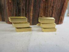 Gold Filled Cuff Links Rp10 Vintage Hadley Mid Century Modern 12K