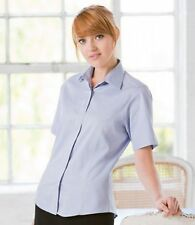 Women's Polyester No Pattern Formal Classic Collar Tops & Shirts