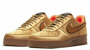 Nike Air Force 1 '07 Premium Quilted Satin 'Wheat' CU6724-777 Size 10 NEW