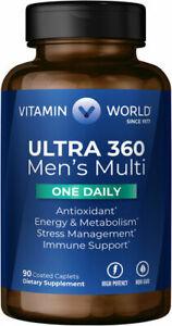 Vitamin World Ultra 360 Men's Multi One Daily - 90 Caplets