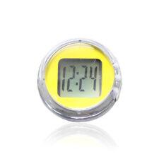 Yellow Waterproof Motorcycle Clocks Motorbike Mount Watch Moto Digital Clock