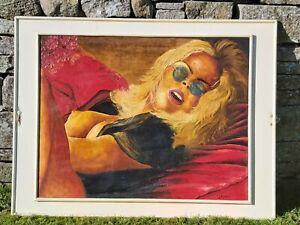 "Erotic Art Female Semi-Nude Study - Original Painting ""Pleasure"" - 32"" x 25"""