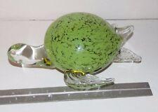 "Sea Turtle Shaped Glass Blown Decorative Figurine 7""x8.5""x3"""