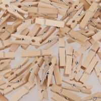 100pz Mollette per Bucato Pinze Di Legno Panni Clip Pin - 3 Dimensioni 25*3mm