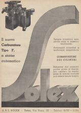 Z5393 Carburatore Solex Tipo F. - Pubblicità d'epoca - 1933 vintage advertising