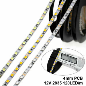 4mm Narrow Width DC12V LED Strip 2835 120LEDs/m 5M Flexible Light No Waterproof
