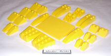 Lego Yellow Slopes and Wedges 8169  Roof Bricks