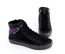 High-Top Sneaker Geox Reißverschluss Echtleder Synthetik schwarz Gr. 36