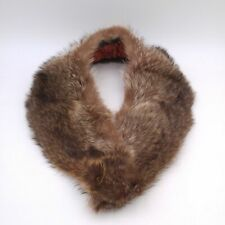 Vintage Real Raccoon Fur Collar with Quilted Back