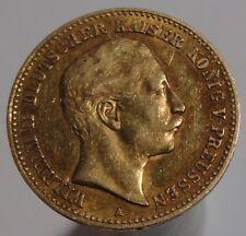 ORIGINAL PRUSSIA PREUSSEN WILHELM II GOLD 10 MARK 1899 A KAISERREICH