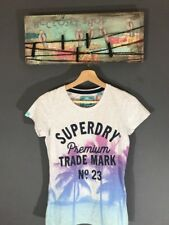 SuperDry Women's Top T-shirt Photographic Entry Tee Sz S NWT Ice Marl